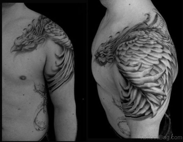 Wonderful Flying Phoenix Tattoo