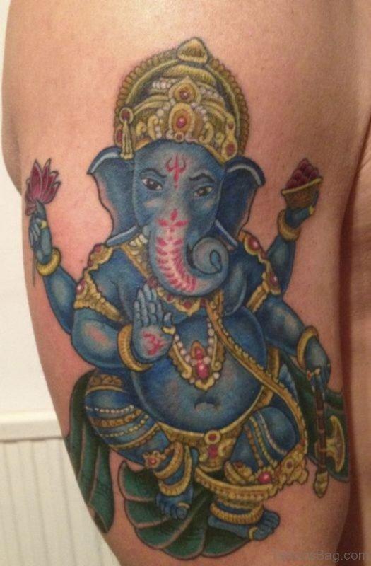Wonderful Ganesha Tattoo
