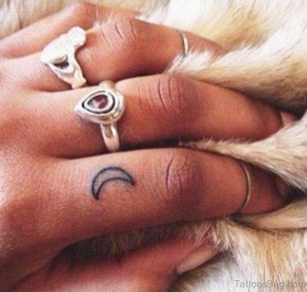 Wonderful Half Moon Tattoo