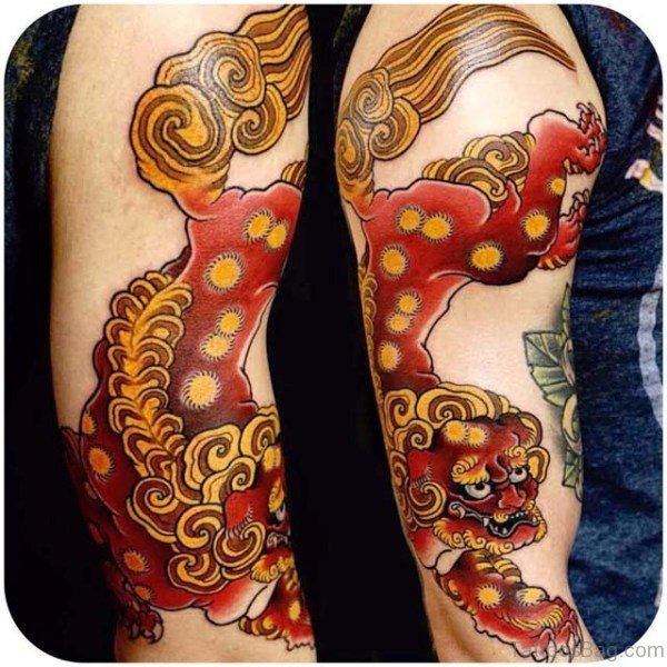 Wonderful Japanese Pattern Tattoo