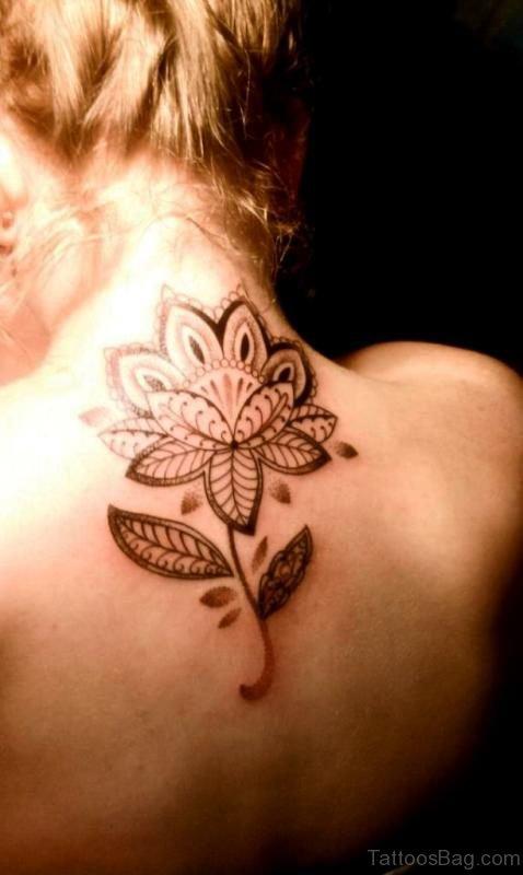 Wonderful Lotus Neck Tattoo