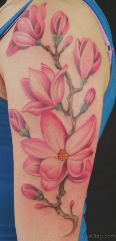 Wonderful Magnolia Tattoo