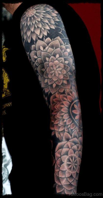 Wonderful Mandala Tattoo On Full Sleeve