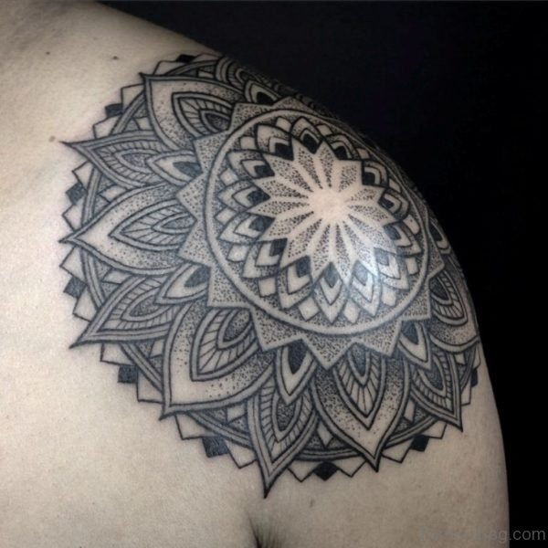 Wonderful Mandala Tattoo On Shoulder