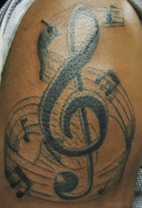 Music Note Tattoos On Chest