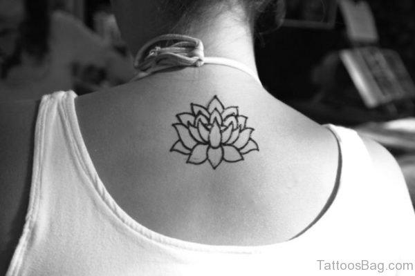 Wonderful Neck Lotus Tattoo
