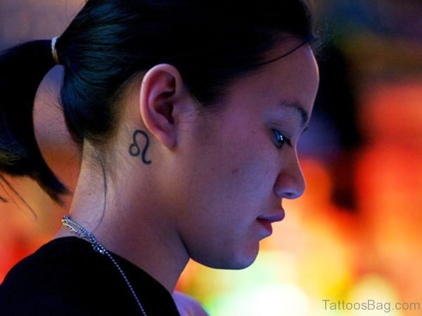 Wonderful Neck Tattoo Design