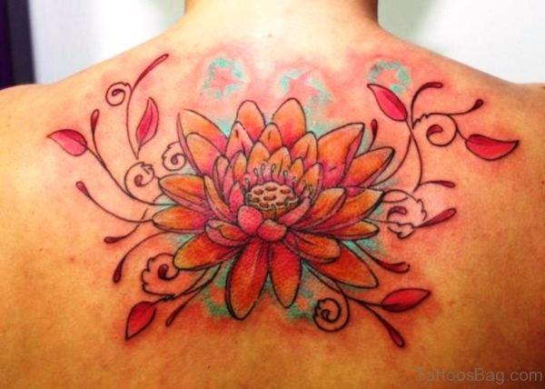 Wonderful Neck Tattoo Design