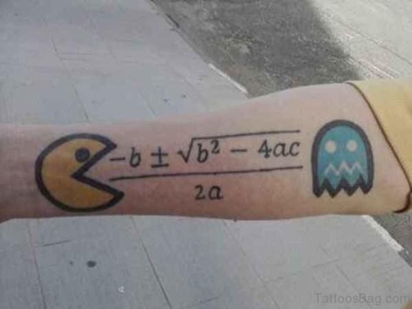 Wonderful Pacman Wrist Tattoo