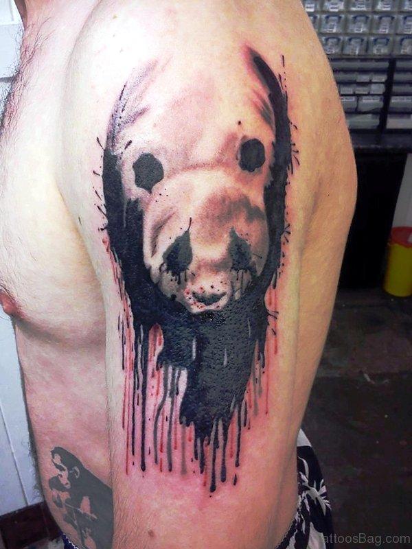Wonderful Panda Shoulder Tattoo