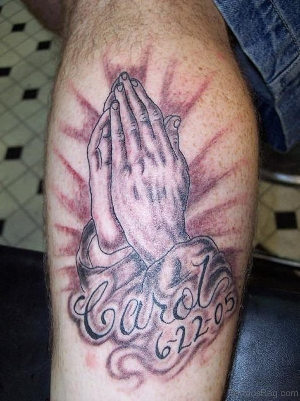 Wonderful Praying Hands Tattoo