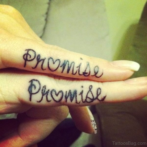Wonderful Promise Tattoo Design