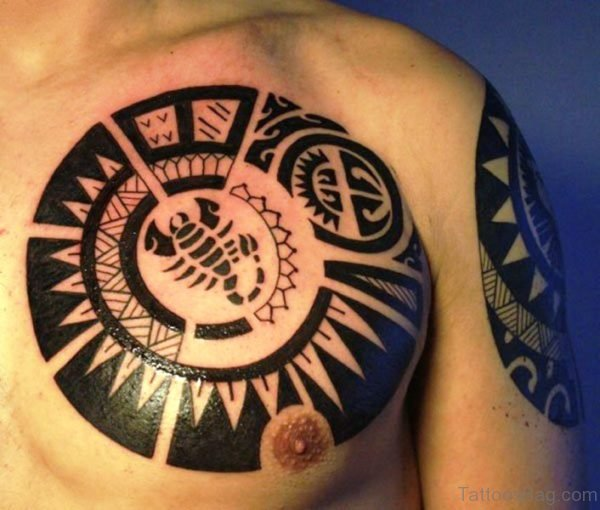 Wonderful Scorpio Maori Tattoo
