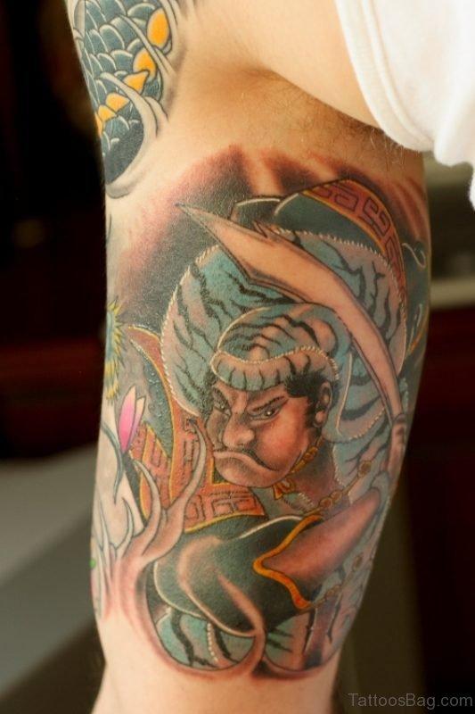 Wonderful Shoulder Half Sleeves Designer Tattoo