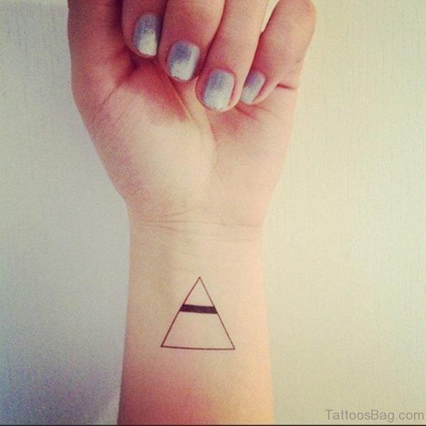 Wonderful Triangle Wrist Tattoo
