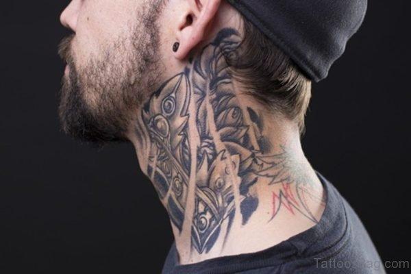 Wonderful Tribal Black And Grey Tattoo