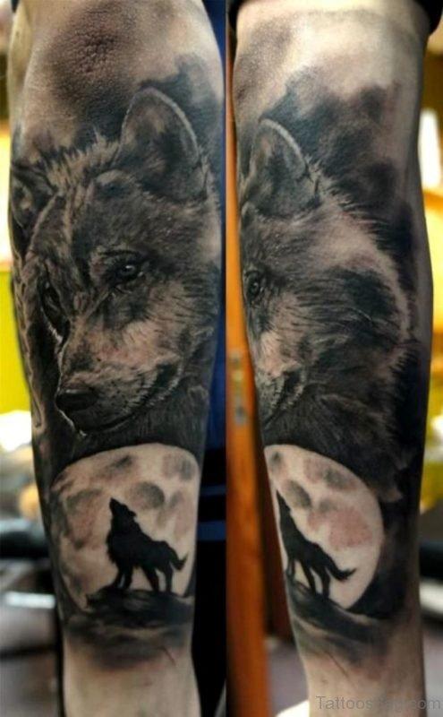 Wonderful Wolf Tattoo On Arm