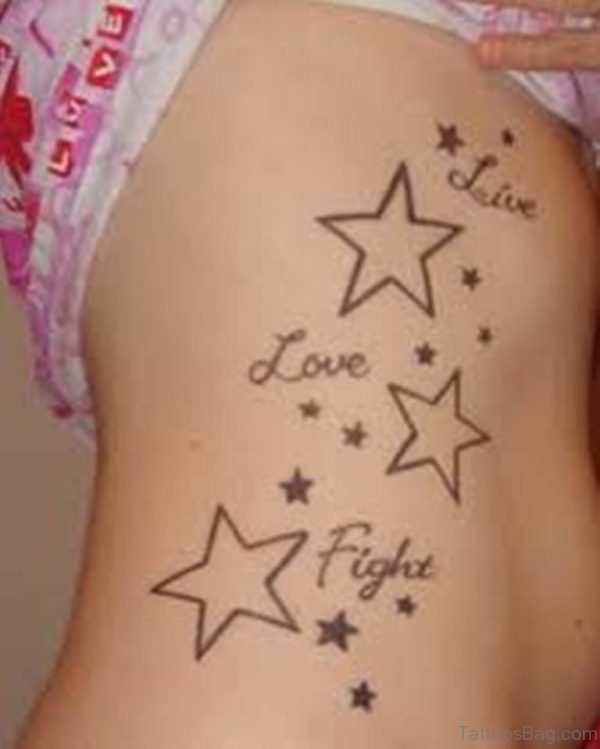Word And Stars Tattoo