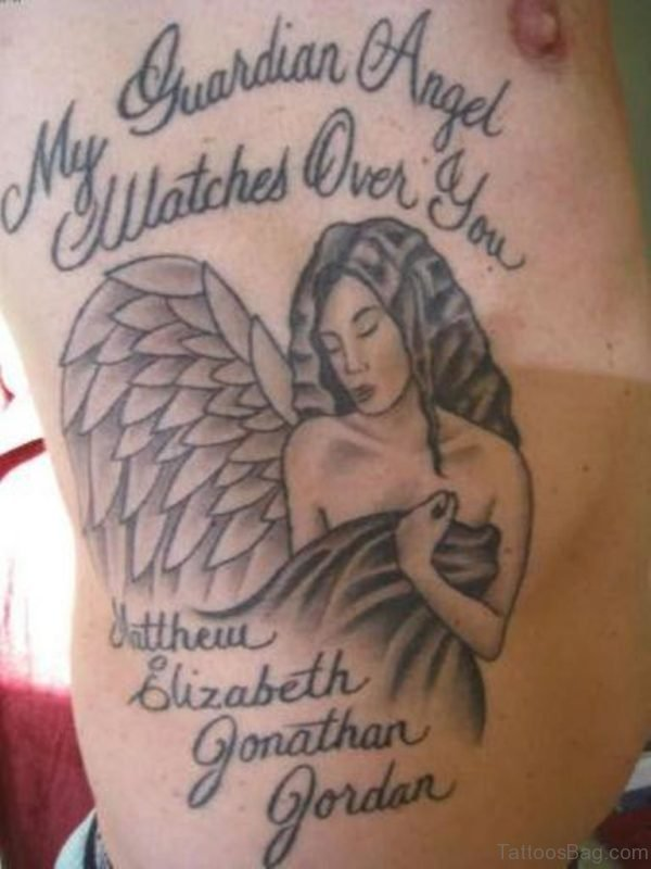 Wording And Angel Tattoo
