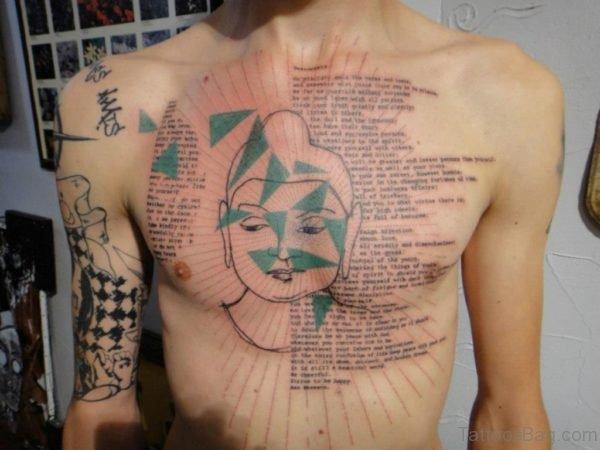 Wording And Buddha Tattoo
