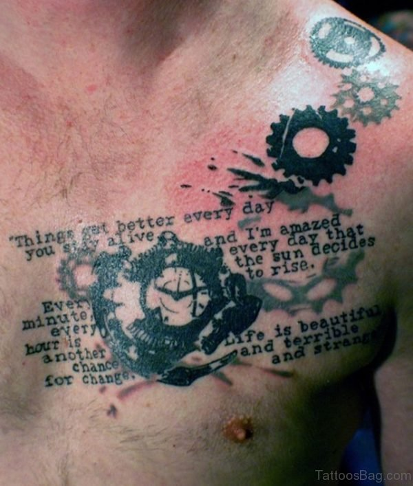 Wording And ClockTattoo