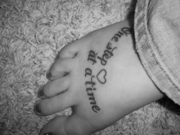 Wording And Heart Tattoo