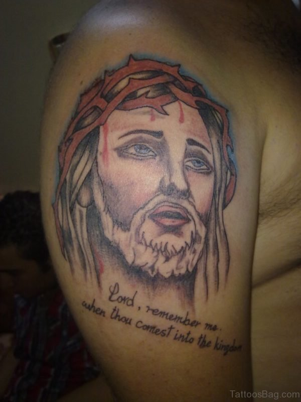 Wording And Jesus Tattoo