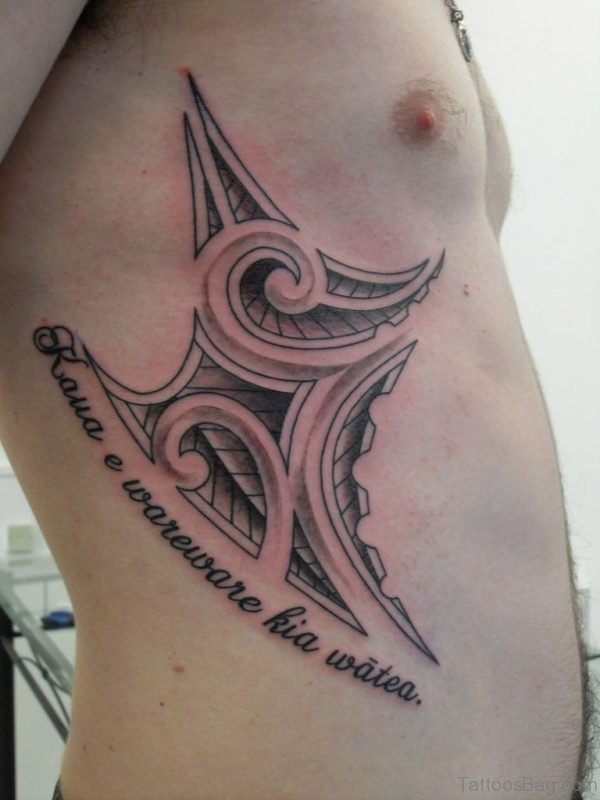 Wording And Tribal Tattoo
