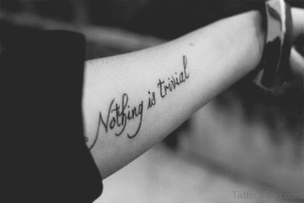 Wording Arm Tattoo Design