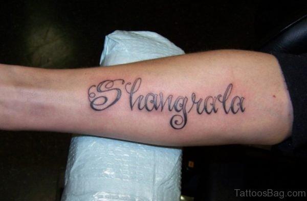 Wording Tattoo Design
