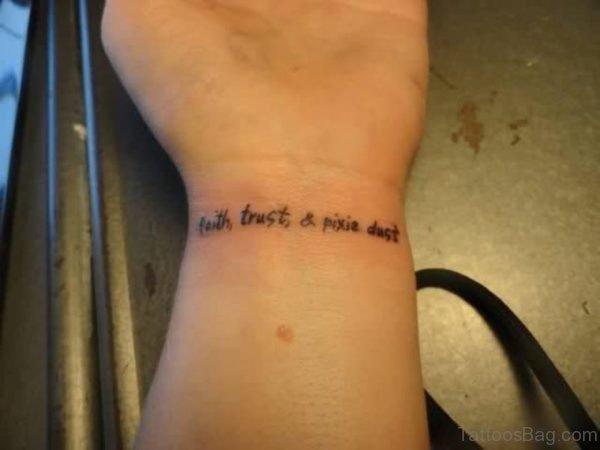 Wording Wrist Tattoo