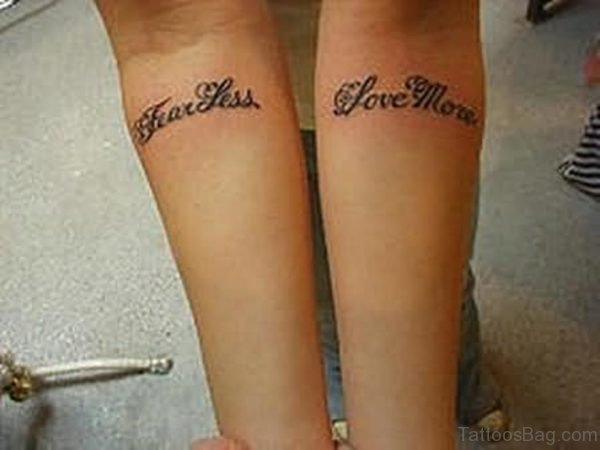 Words Arm Tattoo