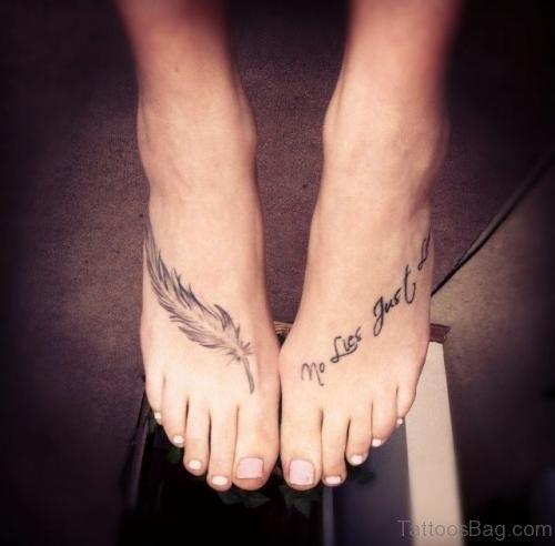 Words Tattoo On Foot