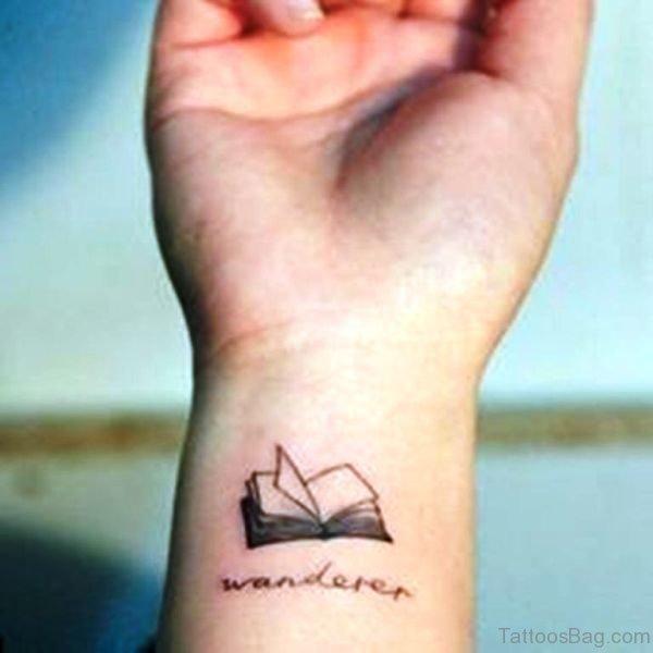 Wrist Book Tattoo