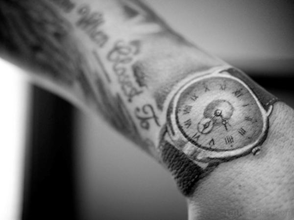 Wrist Clock Tattoo
