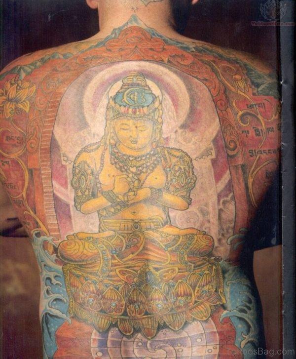 Yellow Buddha Tattoo