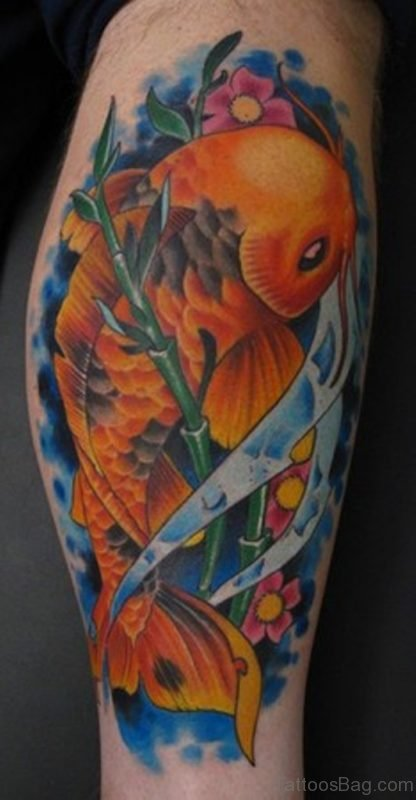 Yellow Fish Tattoo