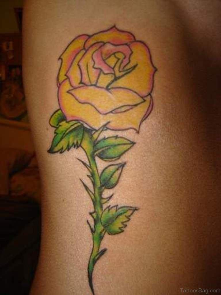 47 Brilliant Rose Tattoos Designs On Rib