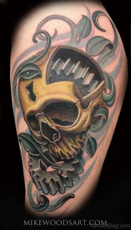 Yellow Skull Tattoo