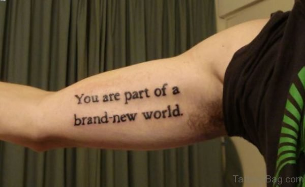 You Are Part Of A Brand New world