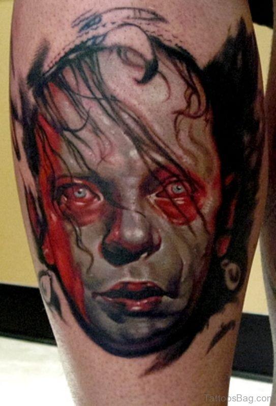 Zombie Baby Portrait Tattoo