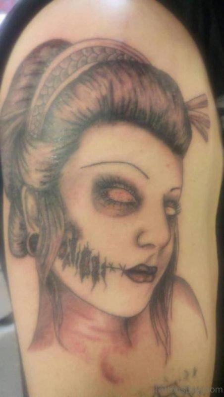 Zombie Geisha Tattoo Design