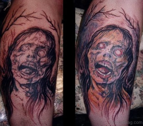 Zombie Ghost Tattoo