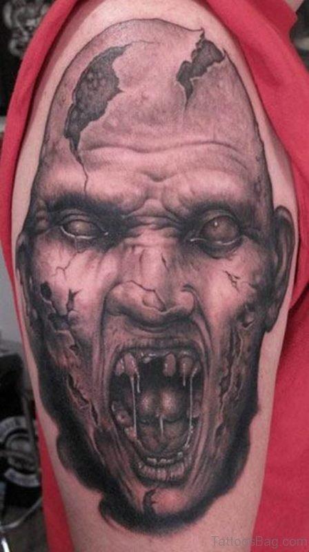 Zombie Tattoo Design Image
