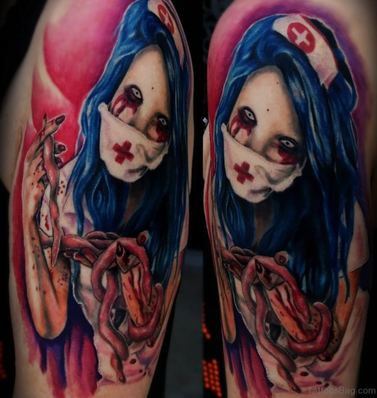 Tattoo Woman Zombie: 80 New Style Zombie Tattoos For Shoulder