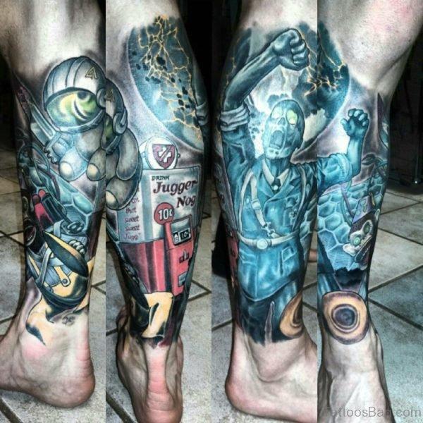 Zombies Leg Tattoo