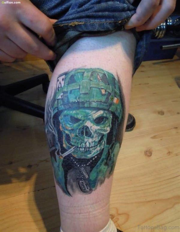 Cary Army Skull Tattoo