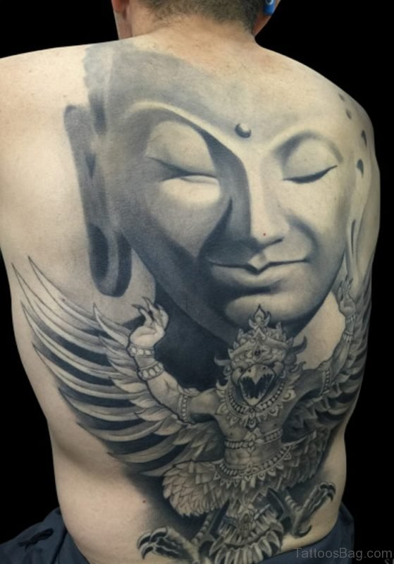 Fabulous Buddha Tattoo On Full Back