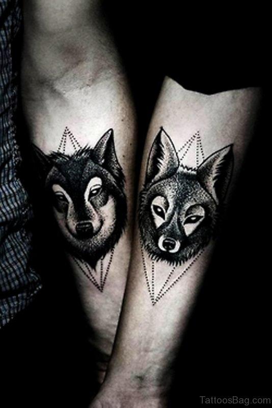 Fancy Wolf Tattoo