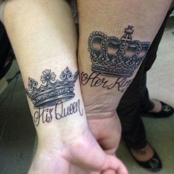 Grey Crown Tattoo